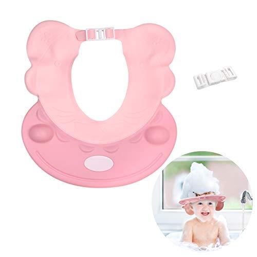 Gorro niño baño sombrero ZERHOK Gorro de ducha bebe champú Hat shower para evitar aguas pasar a los ojos y orejas en ducha de animal hipopótamo de slicona suave para niños lavar la cabeza