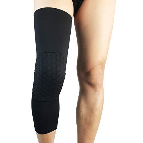 Ginocchiere Ginocchiere per pallacanestro Pantaloni sportivi Calzini Cura Protezioni per polpacci Attrezzature per equitazione estiva. per Allenamento e Protezione ( Color : Black , Size : L )
