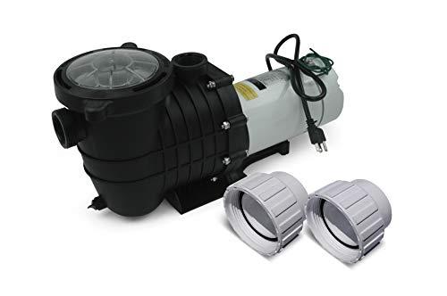 White Label In-Ground Pool Pump - 110-120V/220-240V, 1.5HP, 110GPM, Wall Plug