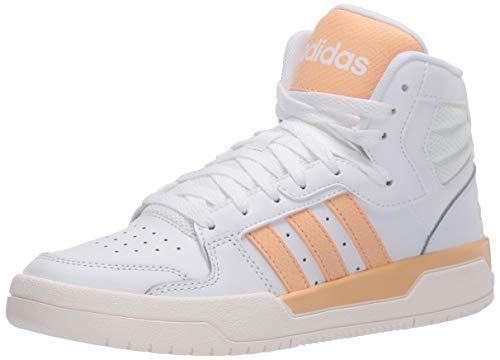 Tênis de basquete feminino Adidas Entrap Mid, Ftwr White/Glow Orange/Cloud White, 5.5