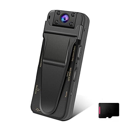 Kleine Kamera ohne WLAN, QZT HD Mini Micro Kamera und Aufnahmegerät mit Bewegungserkennung Nachtsicht 32G SD Karte USB Diktiergerät Überwachungskamera für Aufzeichnung Audio Video Büro Treffen