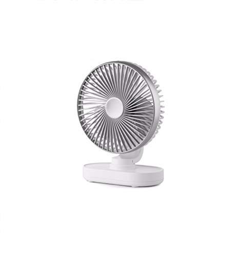 HSTD Ventilador Portátil, Ventilador Recargable USB, Pequeño Ventilador De Escritorio Personal Oscilante, Ventilador Eléctrico De Circulación Silenciosa para La Oficina En Casa