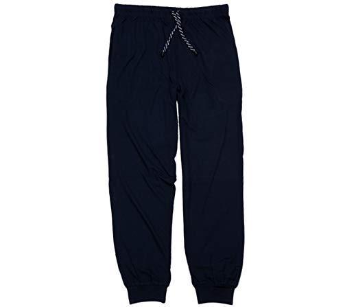 ADAMO Herren Schlafanzug Pyjama Hose BLAU LANG 2XL bis 10XL Jakob (80/82-9XL, dunkelblau)