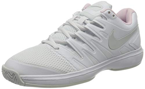 Nike Damen Air Zoom Prestige HC Tennisschuhe, Weiß (White/Black-Pink Foam 105), 42.5 EU
