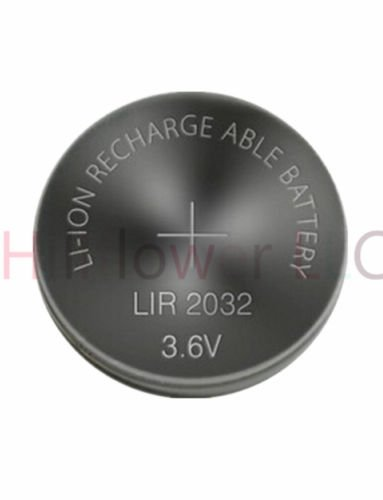 Hillflower 2 Piece LIR2032 2032 CR2032 LM2032 BR2032 Rechargeable Bulk 3.6V Long Duration Lithium Battery