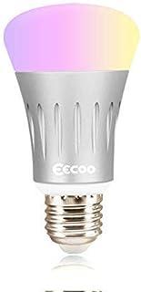 Bombilla LED Inteligente,WiFi RGBW 7W Foco de Luz LED, Luz Nocturna Regulable con Control de Voz para Amazon Echo Alexa Go...