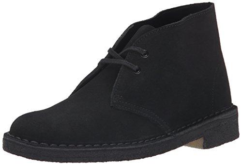 Clarks Women's Desert Boot, Black, 7.5 B - Medium