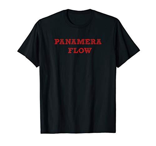 Panamera Flow, schwarz, Dresscode T-Shirt für Herren Damen Kinder