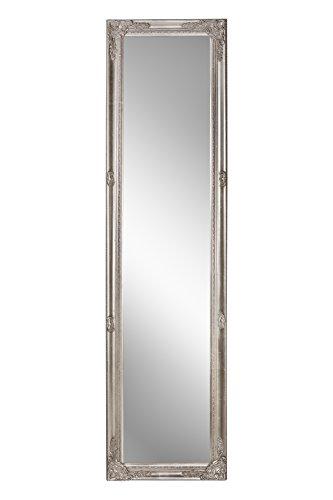 B.U.S. Wohnstyle Spiegel Wandspiegel antik Silber Barock DEVA 160 x 40 cm