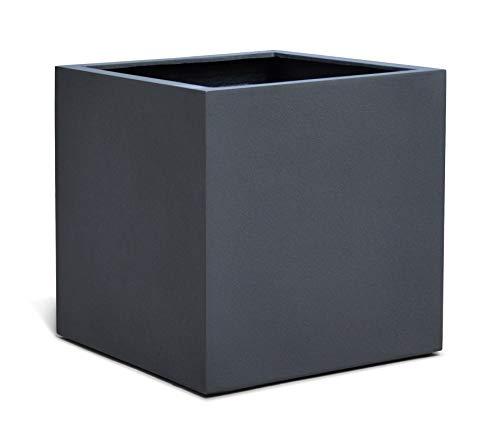VAPLANTO® Pflanzkübel Cube 40 Anthrazit Schwarz Quadratisch * 40 x 40 x 40 cm * Manufaktur Qualität * 10 Jahre Garantie