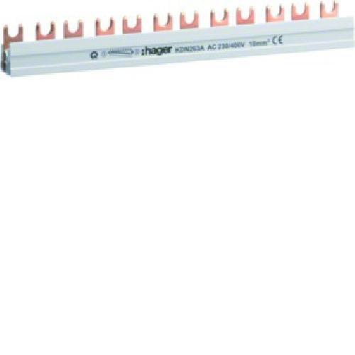 Busch-Jaeger HAGE Phasenschiene KDN263A 2polig, Grau, 21 x 1 cm