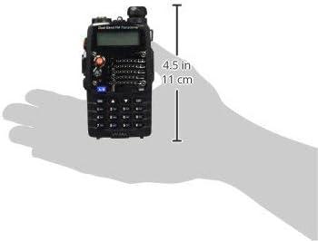 Doble Banda, FM, Codificaci/ón DTMF, C/ódigos de Privacidad CTCSS Negro Radtel Walkie Talkie UV-5R Radio Port/átil