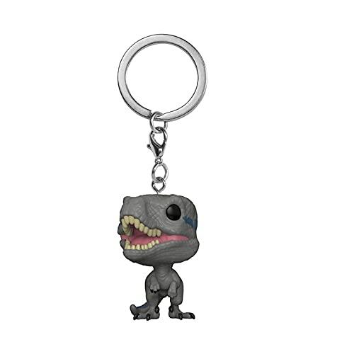 LUGJ Funko Pop Portachiavi Jurassic Park Kawaii Q Versione Anime Figure Raptor Boxed Pop Vinyl Action Figures Toy 5Cm, Collezione di Decorazioni Giocattolo per Bambini