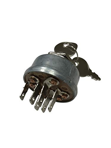 ENGINERUN 92377 Ignition Switch Compatible with Murray 92377MA 91846 092377MA Lawn Mower Starter Switch Briggs & Stratton Oregon 33-392 Stens 430-161