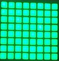 CESULIS 6mm 8 * 8ジェイドグリーンブルーレッドホワイト四角LEDドットマトリックスデジタルチューブLED表示モジュール2488BGG 2488BB (Support Language : JadeGreen An 2488BGG)