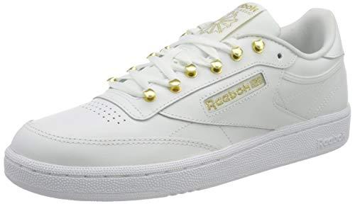 Reebok Club C 85, Scarpe da Ginnastica Donna, White/Pantone/White, 39 EU