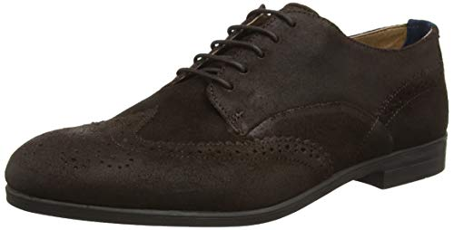H by Hudson Aylesbury, Brogues Homme, Marron (Brown 20), 44 EU