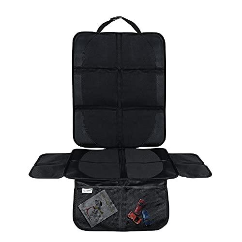 CAMOTO | rutschfeste Kindersitzunterlage – ISOFIX kompatibel – Wasserabweisend – Autositzschutz Kindersitz – Universal – 600D PVC – Netztaschen