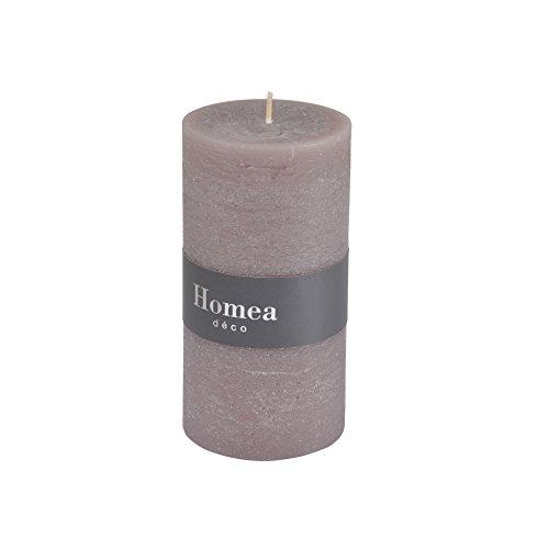 homea 6bpc020tf Kerze Zylindrische Paraffin taupe foncé 6.8x 6.8x 13cm