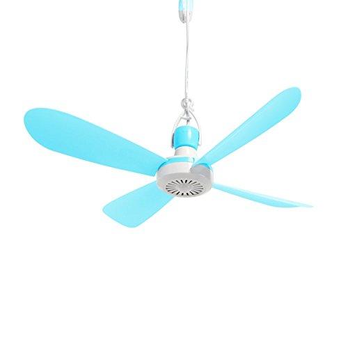 Yorbay, Ventilatore da soffitto Mobile, del Diametro di 40cm, con Gancio e Interruttore, Veloce da Montare