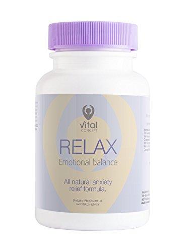 Vital Concept Relax - Bewährte Antidepressiva Tabletten. Gegen Angst und Stress. Vitamin B und...