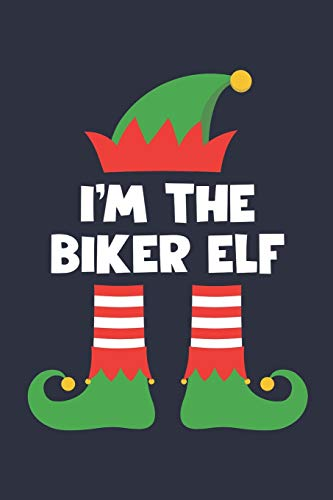 Biker Elf Notebook - Funny Christmas Gift for Biker Diary - Family Xmas Holiday Journal: Medium College-Ruled Journey Diary, 110 page, Lined, 6x9 (15.2 x 22.9 cm)