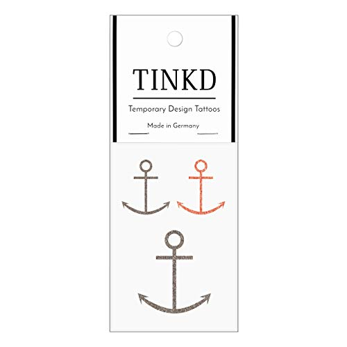 TINKD Tattoo Anker - Anchor Tattoos - Temporäres Anker-Tattoo - Made in Germany