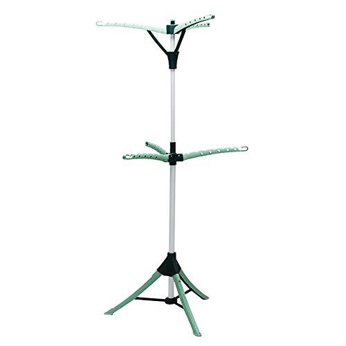 GYJ Ropa y tendedero/trípode portátil de 2 niveles, árbol plegable para colgar el trípode versátil, el tendedero es el compañero perfecto para la colada.