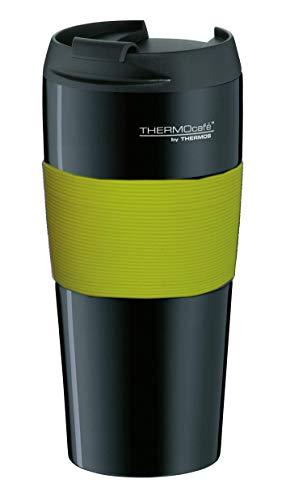 ThermoCafé Thermobecher ThermoPro, Kaffeebecher to go Edelstahl grün 400ml, Isolierbecher mit Schiebeverschluss, Becher spülmaschinenfest 4056.277.040, Coffee to Go 4 Stunden heiß, BPA-Free