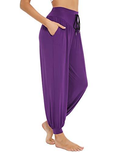 Sykooria Harem Pants Women Yoga Pants Soft Modal Cotton High Waist Drawstring Harem...