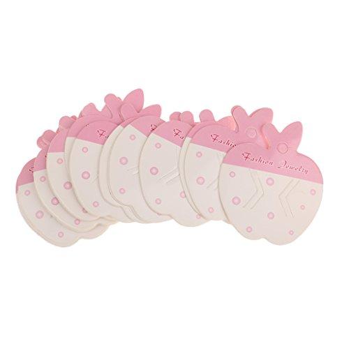 50 Stücke Schmuck Verpackung Karte Papier Haarspange Karten Haar Zubehör Display - Apfelform