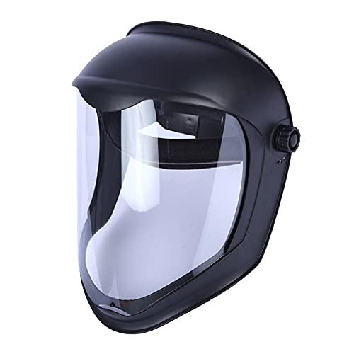 SM SunniMix Casco de Soldadura Protector Facial con Lente Transparente de Policarbonato, Ligero, Protección Completa, Anti-Impacto/UV, Adapta Gafas, 30x27cm - Anti-niebla máscara 🔥