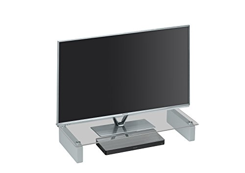 MAJA Meubel TV-meubel televisiestandaard in helder glas 60x12,2x27,6cm Lowboard