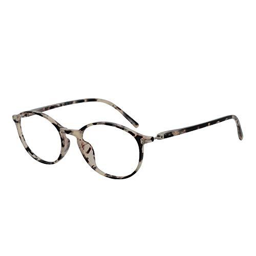 OCCI CHIARI Round Reading Glasses Spring Hinge for Women 1.0 1.25 1.5 1.75 2.0 2.25 2.5 2.75 3.0 3.5 (Demi,275)