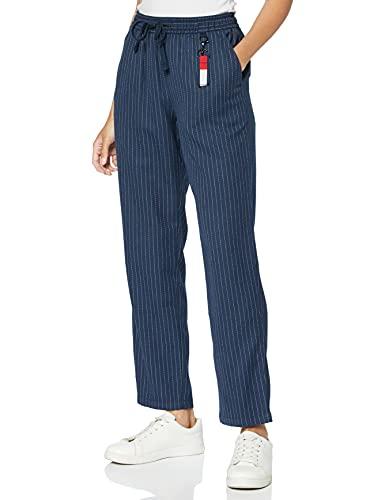 Tommy Jeans Damen Tjw Pinstripe Pant Hose, Twilight Navy/Weiß, RL