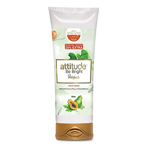 Amway attitude be bright herbals face wash - 100 ml for men and women