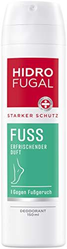 Hidrofugal Fuss Spray (150 ml), zuverlässiger Schutz vor stark schwitzenden Füßen und Fußgeruch, Fußdeo mit Menthol & angenehm frischem Duft