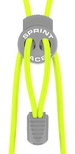 Sprint-Laces - elastische Schuhbänder für Running, Triathlon, Trekking, Fitness, Freizeit, etc. Farbe Neon Yellow