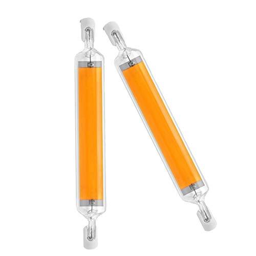 10W R7S 118mm Dimmbar LED-Stablampe 360-Grad-Beleuchtung, Ersatz für R7S J118 100W Halogenstab, 1000LM, R7S 118mm COB LED als für Wandleuchte/Flurbeleuchtung, 2er-Set,Warm White,110~140V