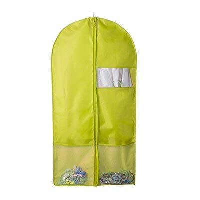 ADSIKOOJF Oxford doek Opbergtas Case voor kleding Organizer kleding pak jas stofkap Protector Wardrobe Opbergtas voor kleding 1 PC 58X125CM Groen