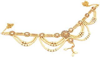RITIH Stylish Golden Designer Traditional Gold Plated Kamarband for Women and Girls - Waist Hip Chain with Beautiful Stone...