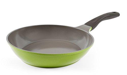 Neoflam PerfecToss 27,9 cm Keramik-Bratpfanne für Bratpfanne, Omelette mit weichem Griff, PFOA-frei, spülmaschinenfest, Kochwok, 0,9 kg, 1/Set, Avocadogrün
