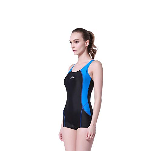 Tauchanzug Shorty Wetsuit One Piece Dive Skin UV-Schutz Rash Guard for Schnorchel (Color : Blue, Size : XL)