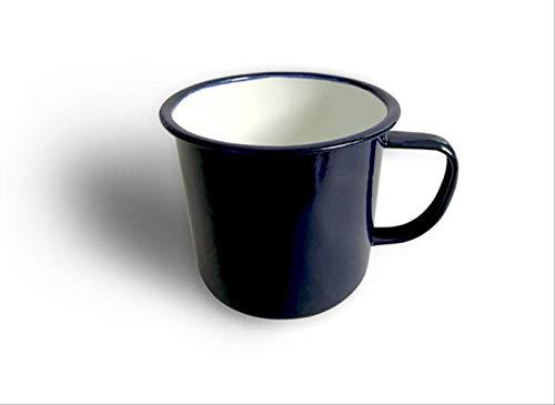 GBX Taza de té Taza de café Taza de Esmalte Taza de Cerveza Taza de café BlancaAzul