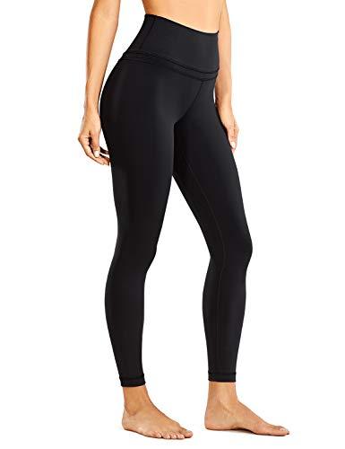 CRZ YOGA Damen Sports Yoga Leggings Sporthose mit Hoher Taille-Nackte Empfindung -63cm Schwarz 36