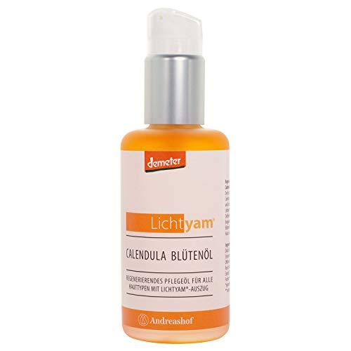 Calendula Blütenöl Körperöl Gesichtsöl Pflegeöl Kosmetik Demeter Bio Lichtyam® Naturkosmetik Biokosmetik vegan Gesichtspflege Körperpflege, Inhalt:100 ml