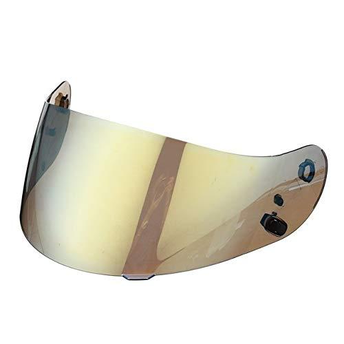 without brand SY-MTCZS, Casco de la Motocicleta del Visera for HJC CL-16 CL-17 CS-15 CS-R1-R2 CS CS-15 FG-15 TR-1 Escudo de Piezas vidrios de la Lente de la Moto (Color : Gold)