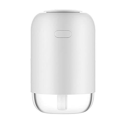 PULLEY Humidificador para dormitorio, humidificador ultrasónico silencioso de aire, bebé, niños, hogar, oficina (200 ml) (color: blanco)
