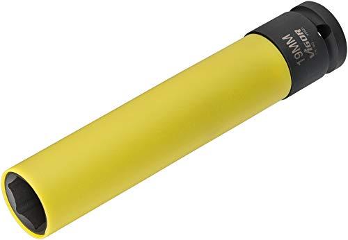 VIGOR Schlagschrauber Steckschlüssel-Einsatz (SW 19, 150 mm ∙ Vierkant hohl 12,5 mm (1/2 Zoll) ∙ Außen-Sechskant Profil ∙ 19 ∙ Gesamtlänge: 150 mm) V5931