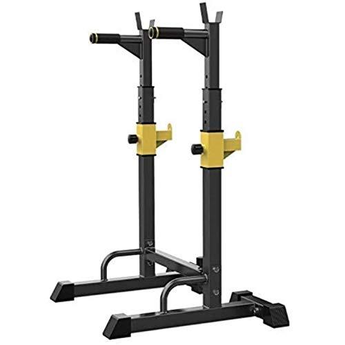 JCCOZ-URG - Soporte para sentadillas con ruedas, soporte multifunción ajustable a presión, gimnasio en casa, entrenamiento de fuerza, soporte para pesas de fitness